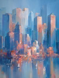Into the Blue VI by Wilfred -  sized 34x45 inches. Available from Whitewall Galleries